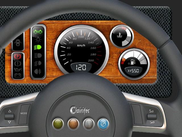 Tableau de bord automobile